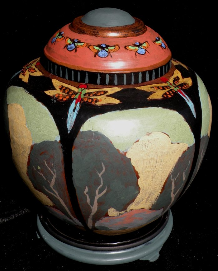 Jack Cassinetto - Bees and Dragonflies Copper Pot