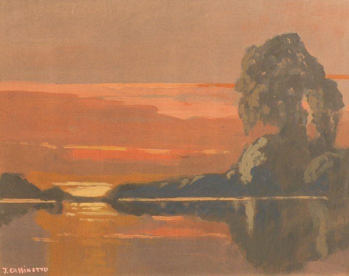Jack Cassinetto - Mokelumne River Sunset