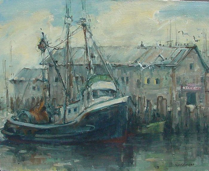 Don Ealy - Blue Fishing Boat