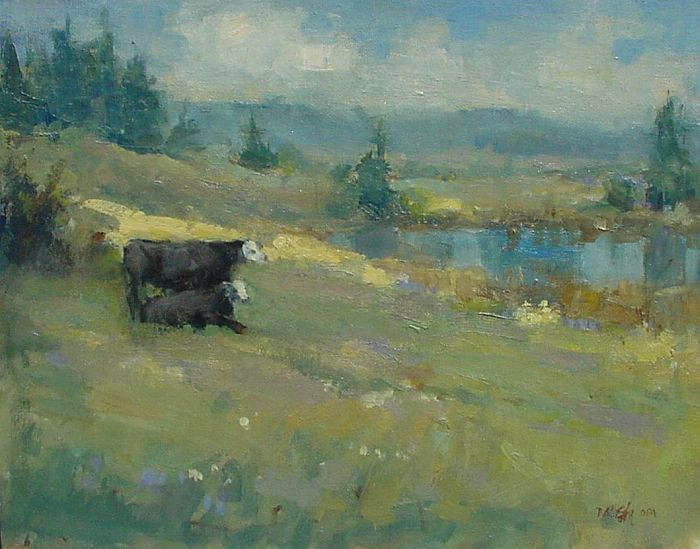 Don Ealy - Cows by the Pond