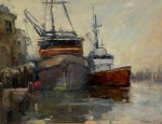 Don Ealy - Harbored Brown Boats