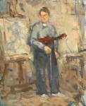 Ealy Self Portrait with Violin retake
