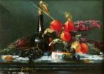 Ronald Goldfinger Black Bottle & Chinese Lanterns