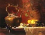 Goldfinger Brass Teapot & Lemons