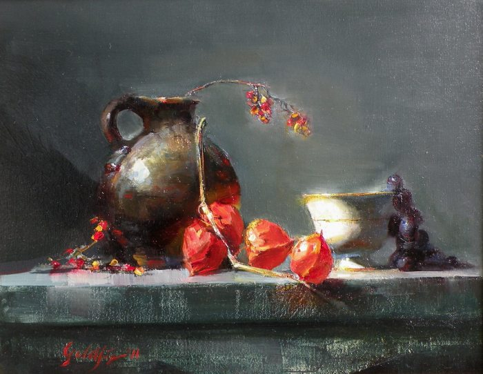 Ronald Goldfinger - Old Jug & Chinese Lanterns