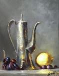 Goldfinger Pewter Teapot