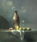 Ronald Goldfinger - Tall Vase & Lady Apples