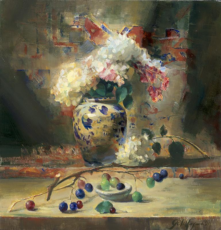 Ronald Goldfinger - Wild Grapes & Hydrangeas
