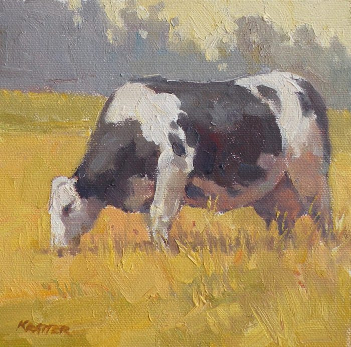 Paul Kratter - Black & White Cow