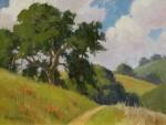 Paul Kratter Trailside Oak with poppies