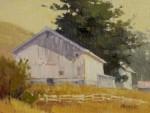 paul Kratter - White Barn & Fence
