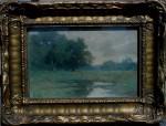 Lorenzo Palmer Latimer - Oaks Among a Marsh
