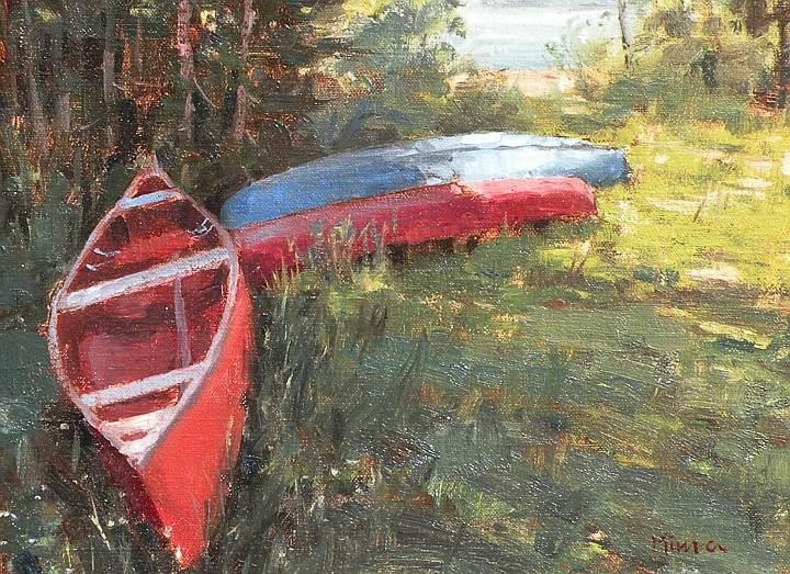 Terry Miura - Red Canoe