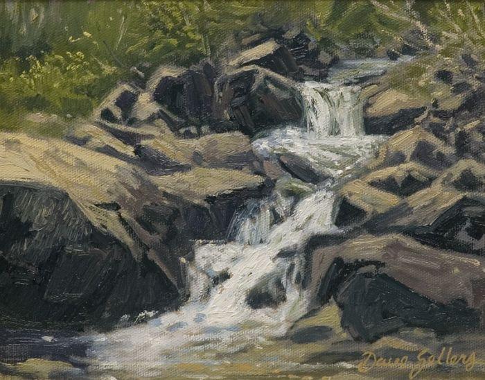 Dave Sellers - Sierra Stream, Waterfall