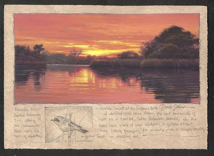 Dave Sellers - Winter Sunset at the California Delta