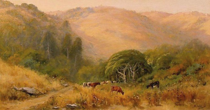 Manuel Valencia - Cows on Mt. Tam
