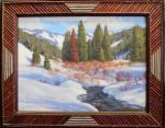 Bart Walker Winter Willows on Pine Creek frame