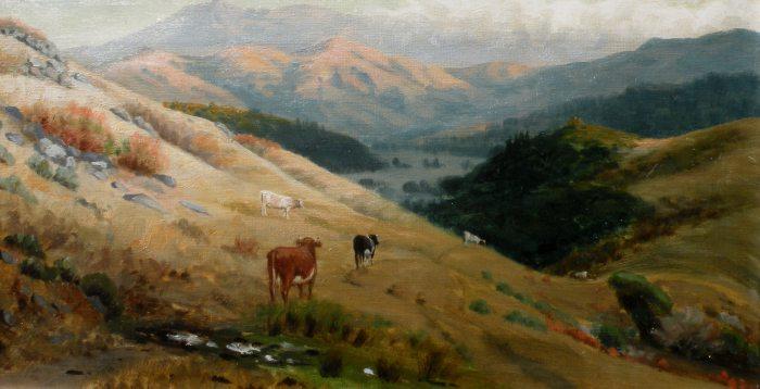 Ludmilla Welch - Cows on Mt. Tamalpais