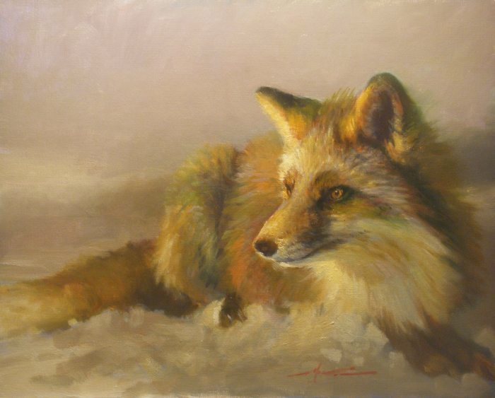F. Michael Wood - Dawn Red Fox