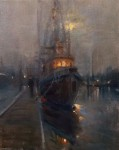 F. Michael Wood In for the Night, Boat