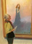 F. Michael Wood Looking Back woman in gallery