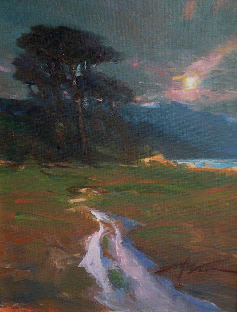 F. MICHAEL Wood Moon Glow