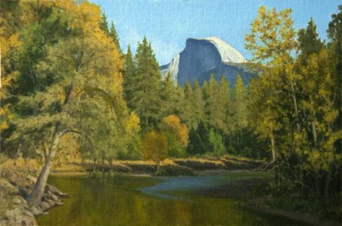 Allen Figone - Merced River and Half Dome in Fall