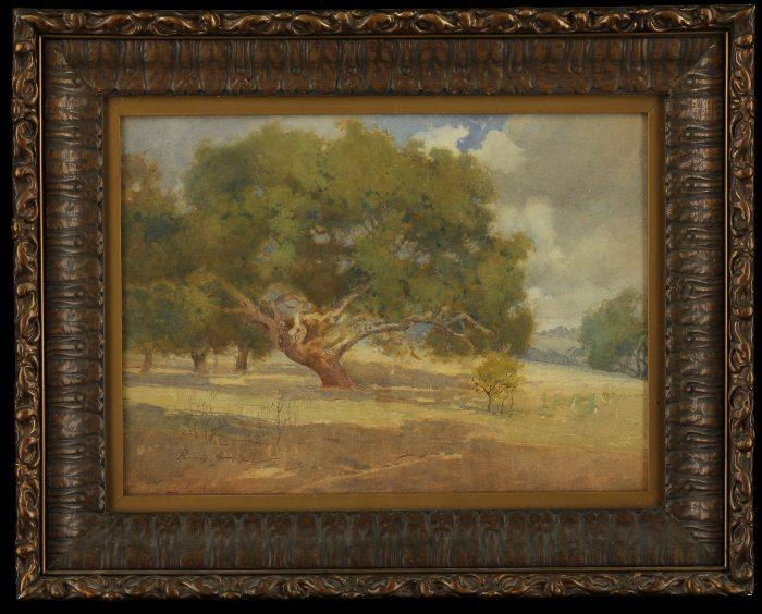 Percy Gray - An Old Oak on a Hillside