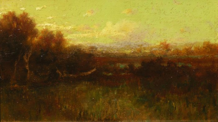 Charles D. Robinson - Twilight at the Pond