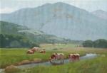 John J. Baumgartner Spring Afternoon cows along stream