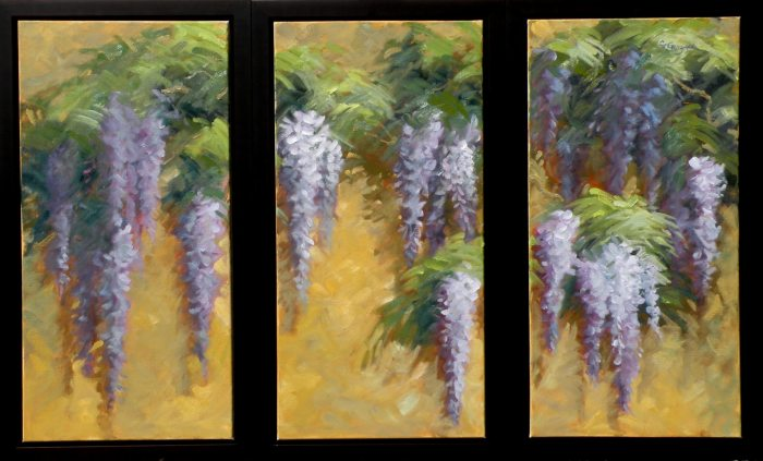 Christine Crozier - Wisteria on a Gold Wall