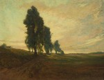 Maurice Del Mue - Country Road at Sunset