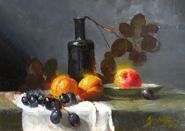 Ronald Goldfinger - Apricots in Dark Light