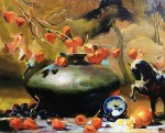 Goldfinger Black Bowl & Chinese Lanterns