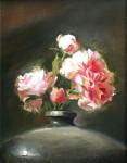 Goldfinger Pink Roses in Squat Vase
