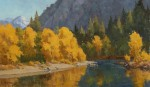Paul Kratter Autumn Reflections 12x20 oil S
