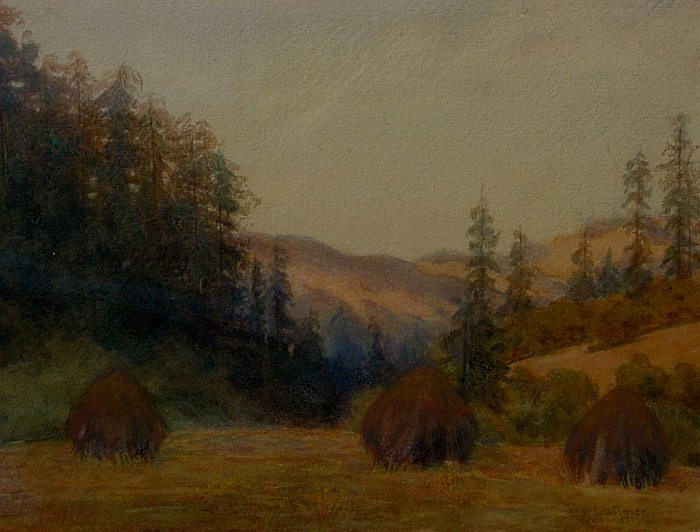 Lorenzo Palmer Latimer - Sonoma County Haystacks