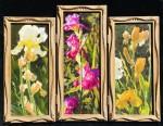 Lopez Iris Triptych framed