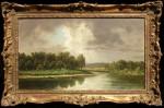 William Marple Along the Sacramento River framed HR