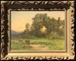 Jules Tavernier Landscape with Cattle