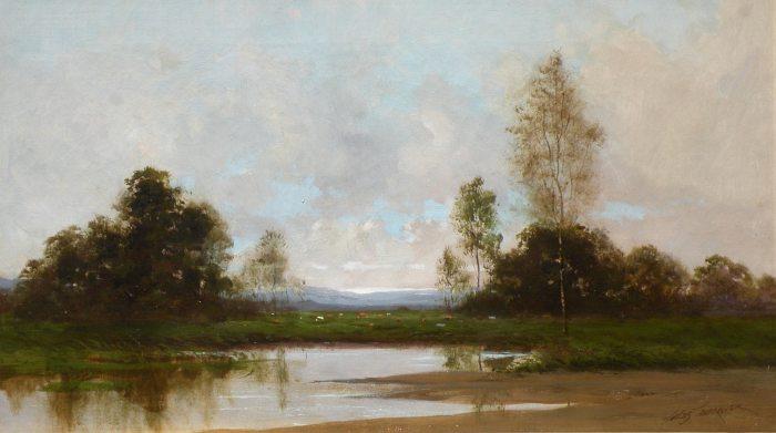Jules Tavernier - Reflections of Summer