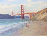 Walker  I Left My Heart In San Francisco - Golden Gate Bridge 14x18