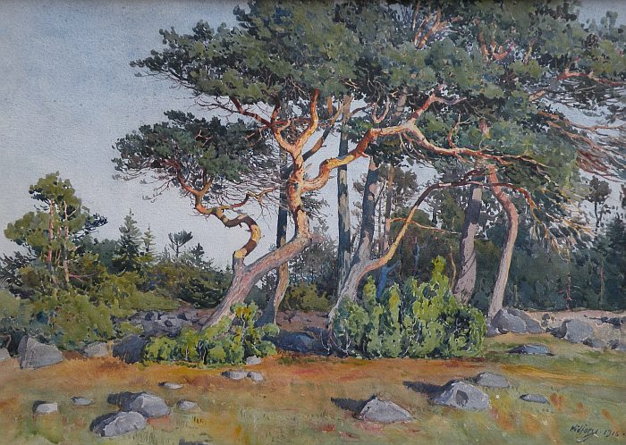 Gunnar Widforss - Sun Washed Trees